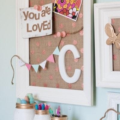 Vintage Kids Desk turned Pink Crafting Goodness