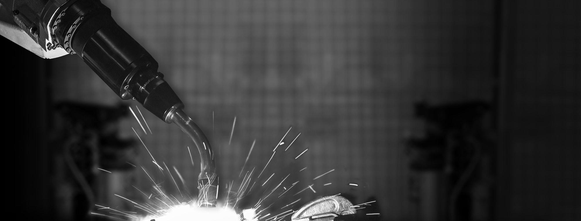 Tregaskiss robotic MIG gun live welding