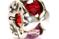 Zilveren Trollbeads met Glas