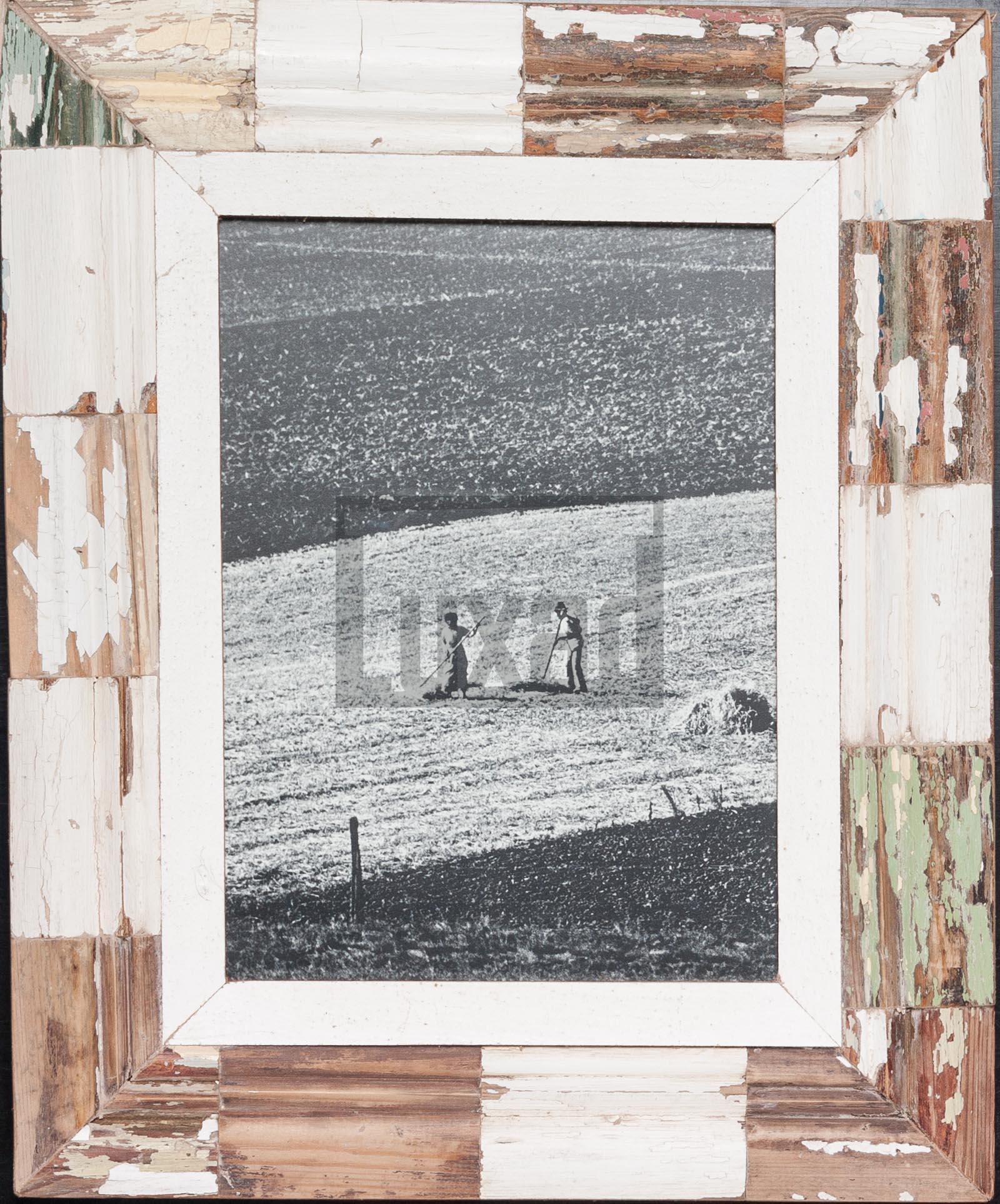 Bilderrahmen mit Mosaik aus Recyclingholz für dein Lieblingsfoto