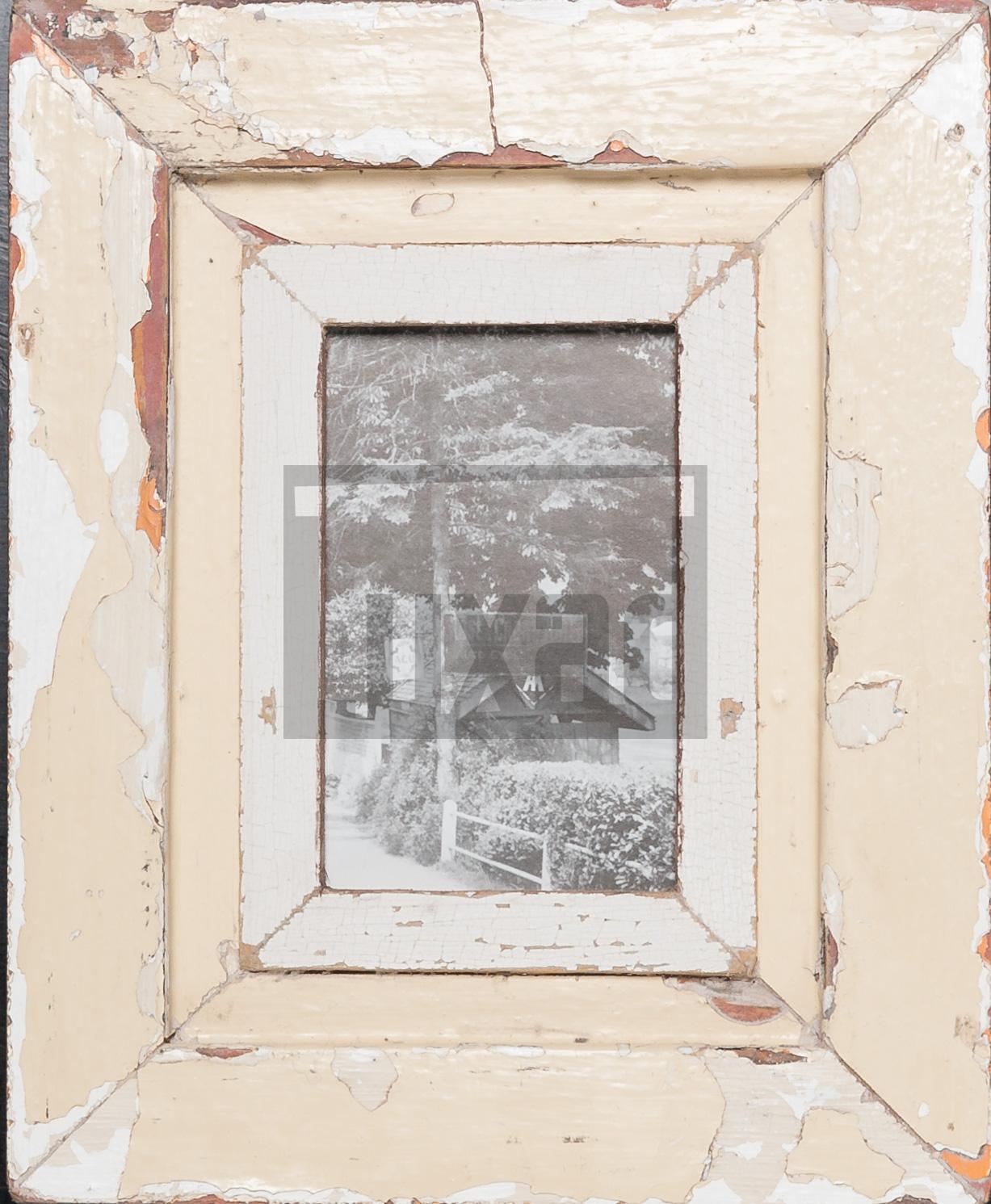 Vintage-Bilderrahmen aus altem Holz für ca. 10,5 x 14,8 cm