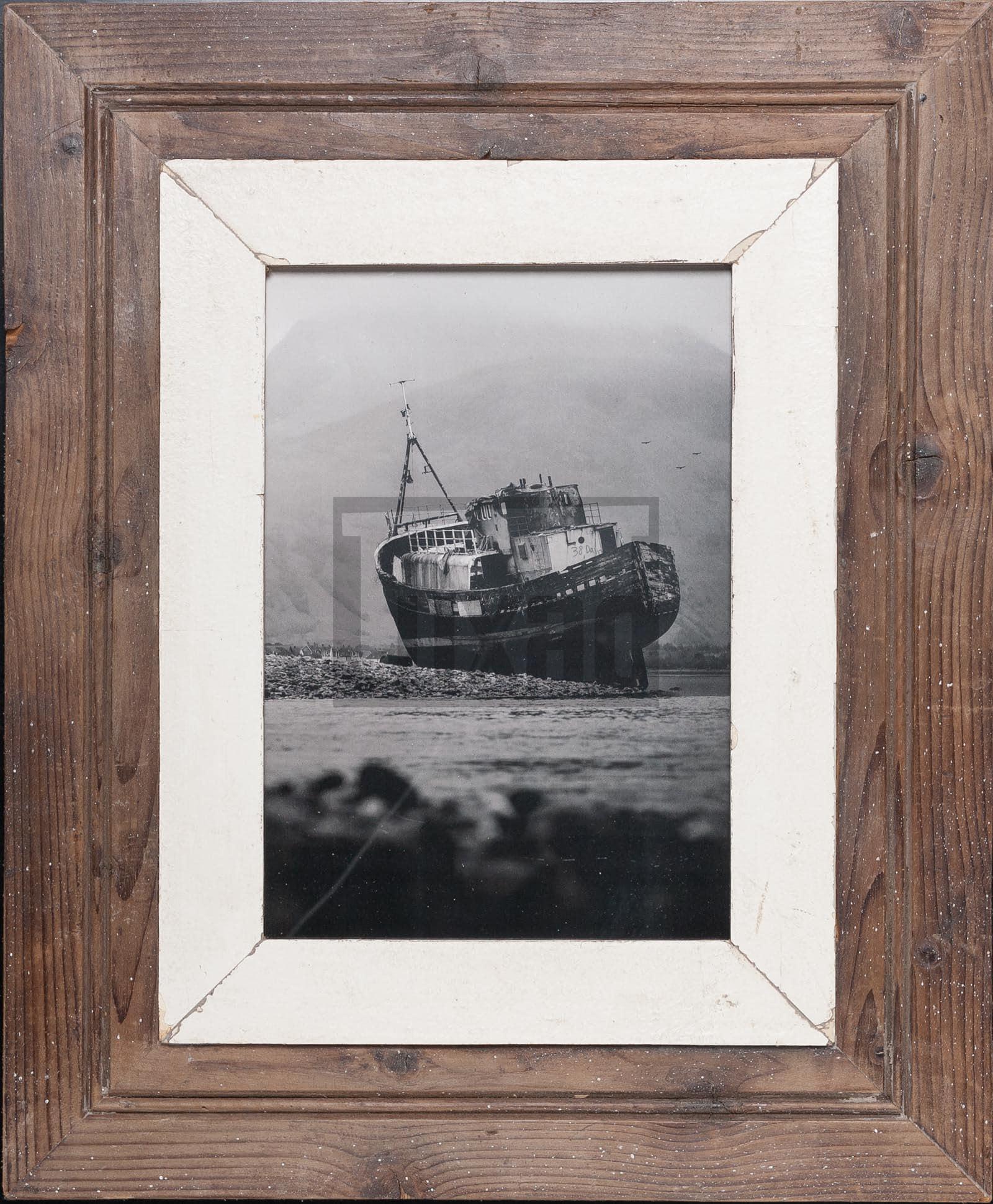 Altholz-Bilderrahmen mit breitem Rand für dein Lieblingsfoto