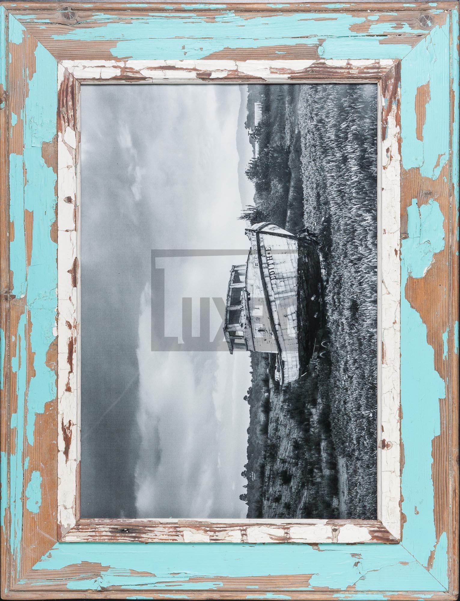 Türkiser Vintage-Bilderrahmen aus Kapstadt