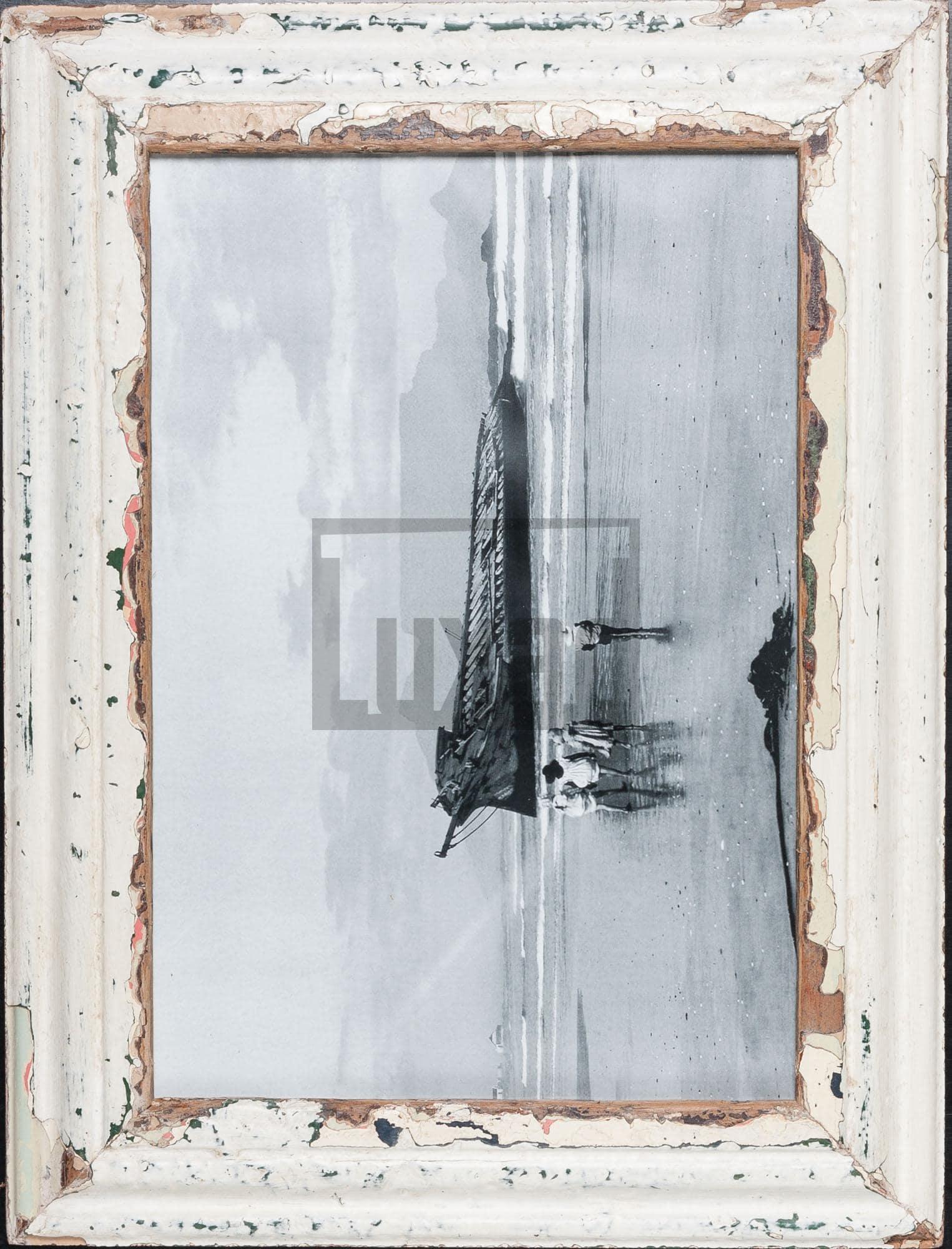 Vintage-Bilderrahmen aus altem Holz für ca. 29,7 x 42 cm große Fotos