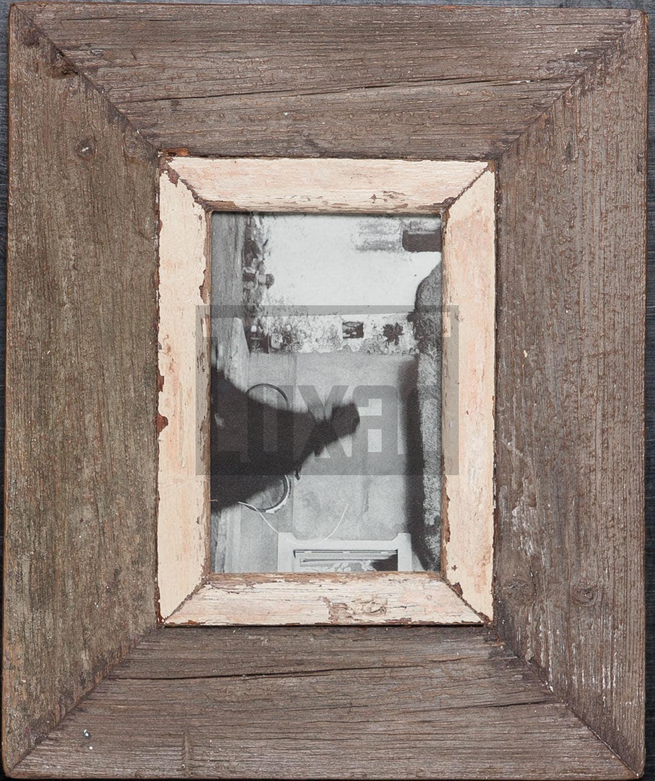 Wechselrahmen aus Altholz für ca. 10,5 x 14,8 cm