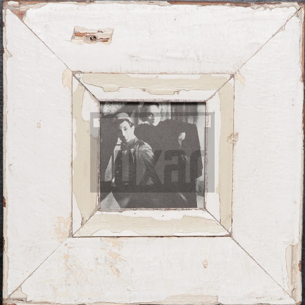 Quadratischer Bilderrahmen aus recyceltem Holz