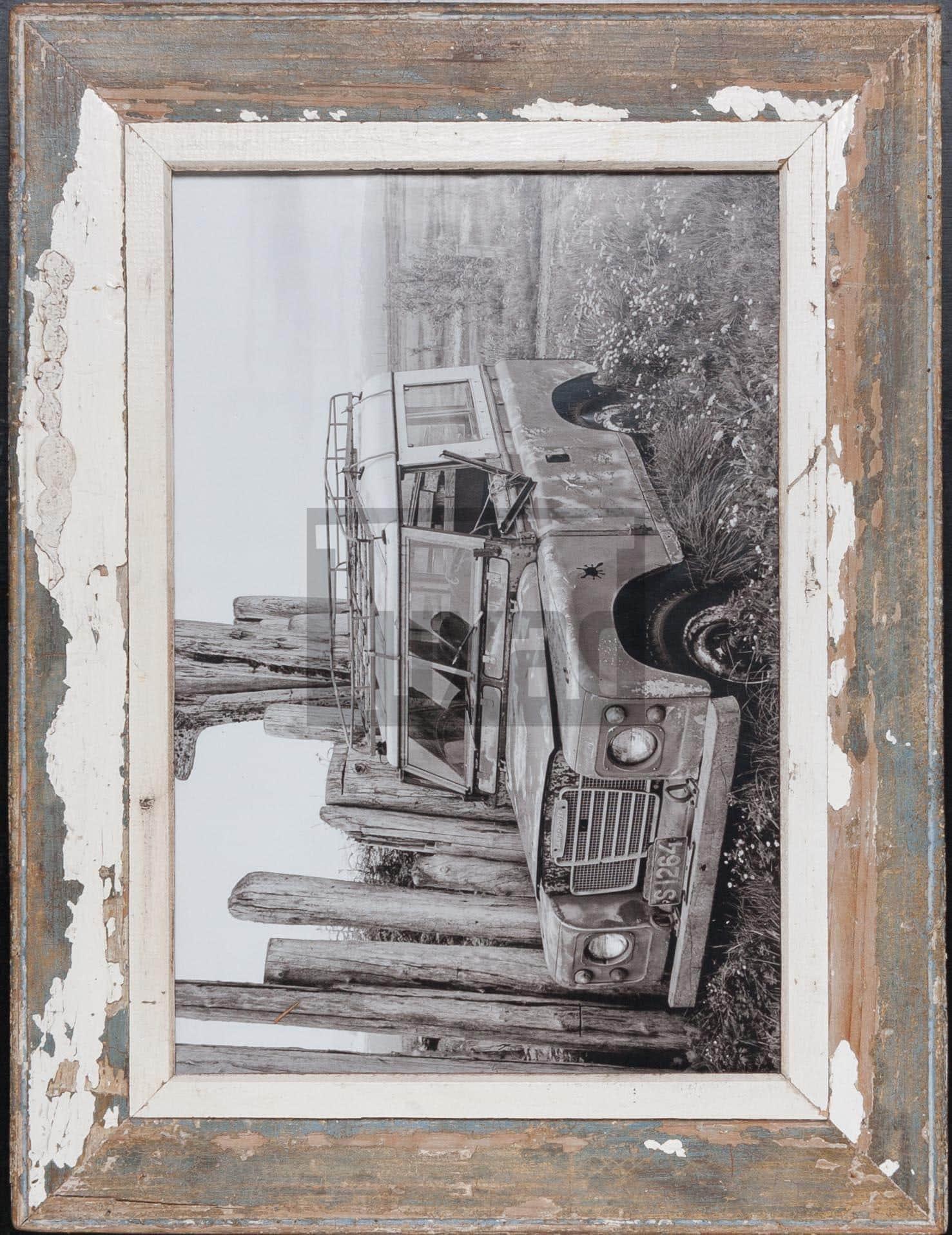 Vintage-Fotorahmen aus recyceltem Holz für Fotos DIN A3