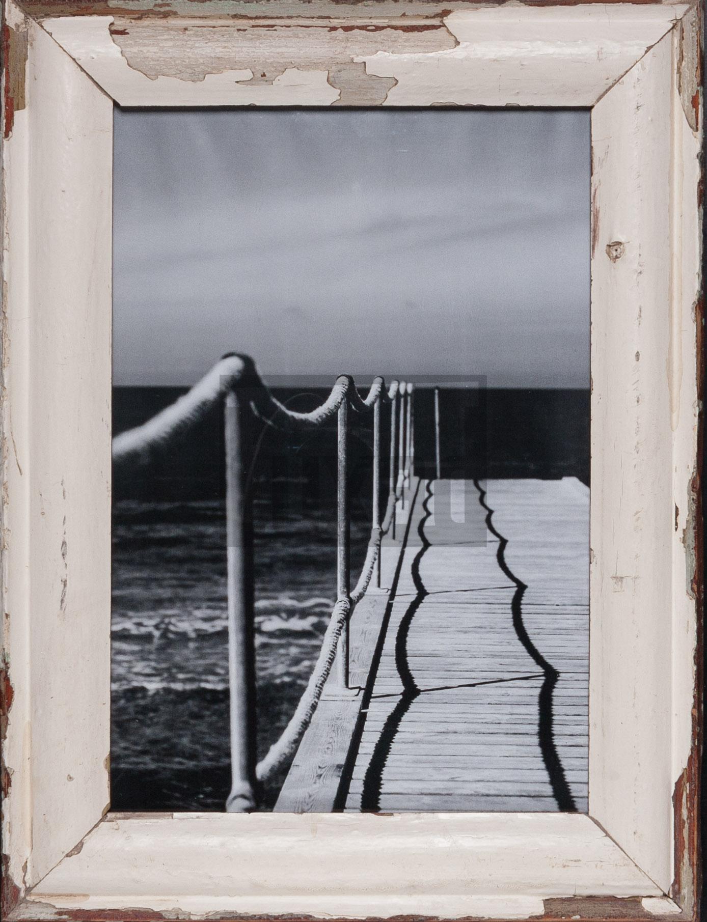 Vintage-Bilderrahmen aus altem Holz für Fotos ca. 29,7 x 42 cm