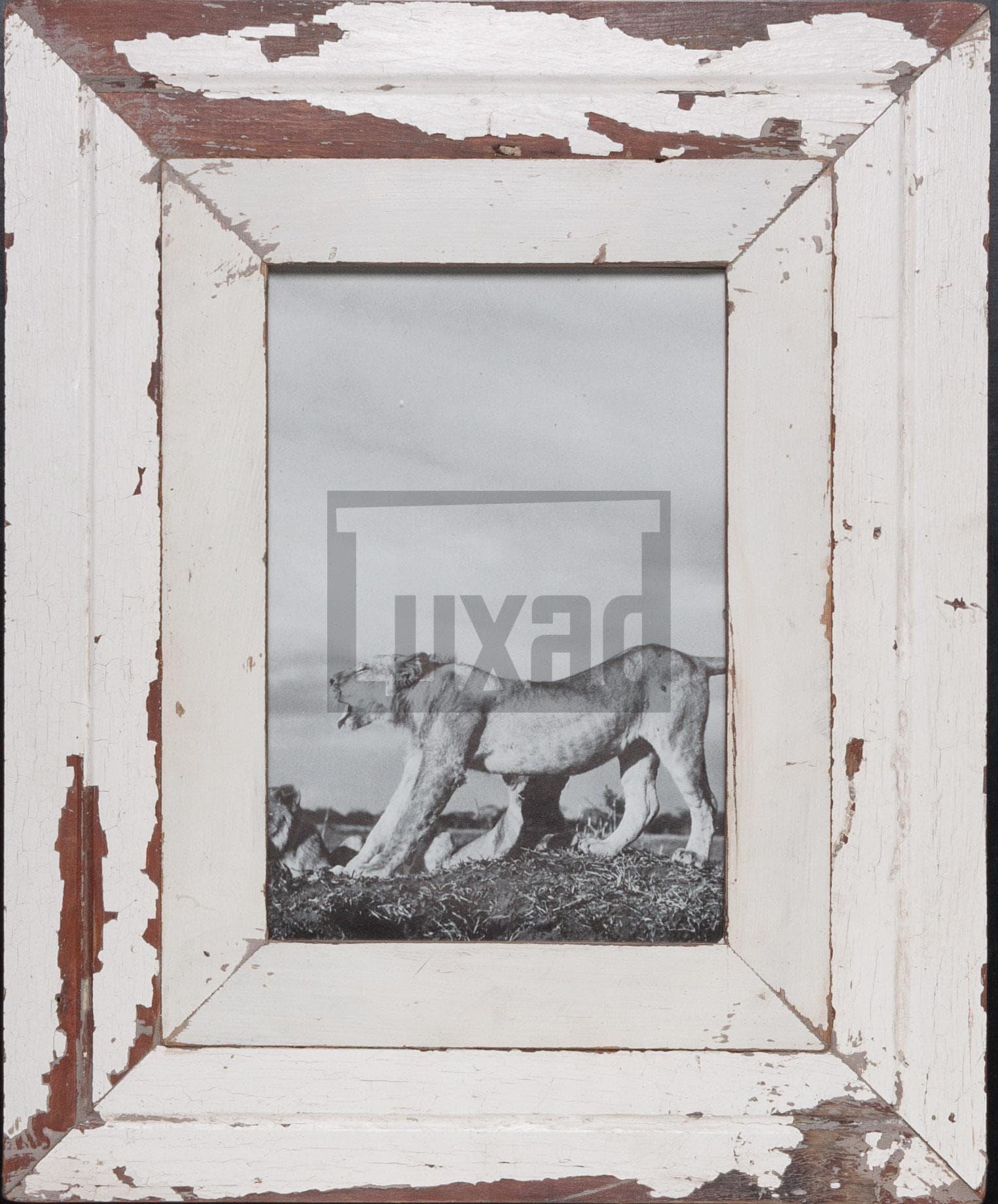 Wechselrahmen aus alten, breiten Holzleisten für ca. 23 x 32 cm Bildformat