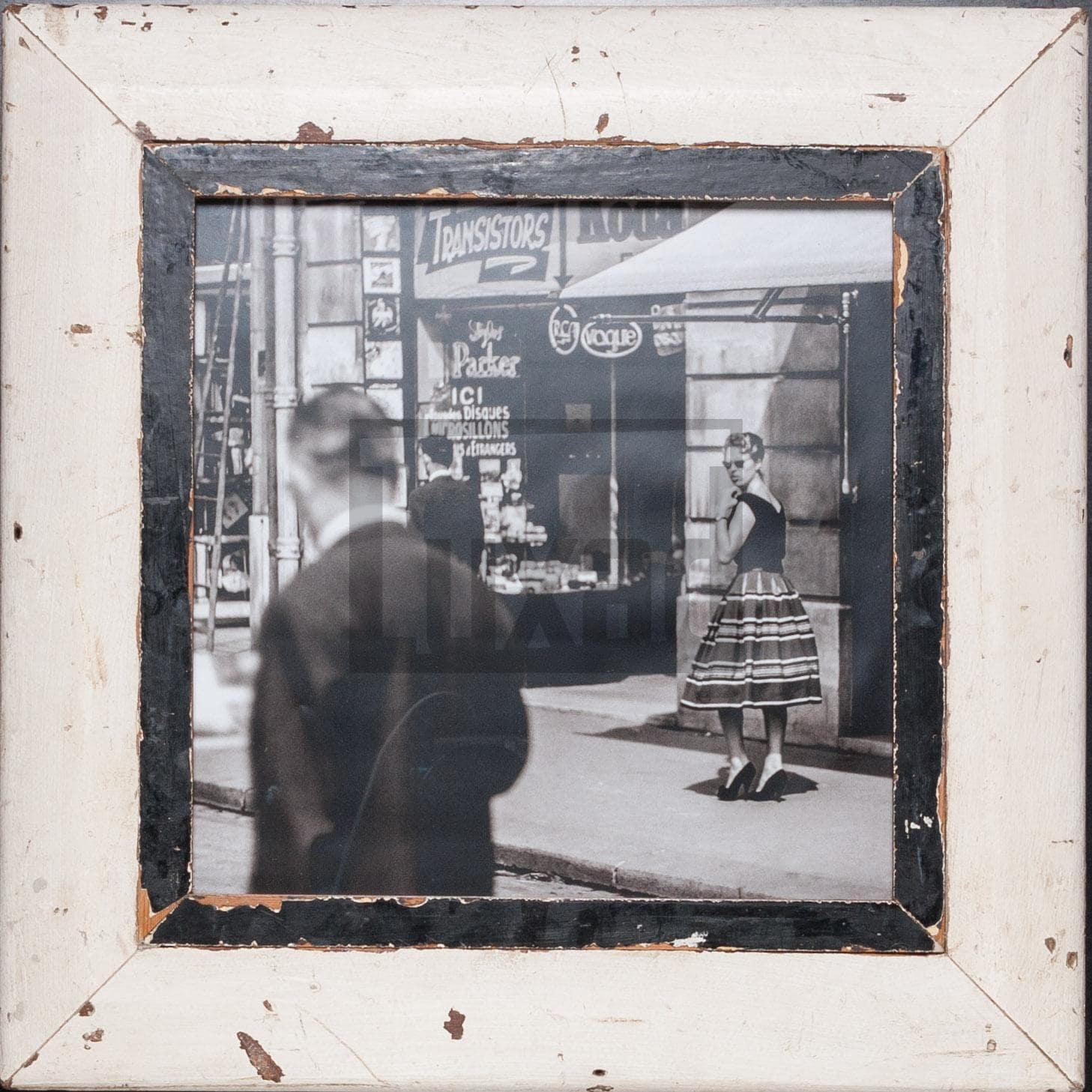 Quadratischer Bilderrahmen aus alten Holzleisten für quadratische 29,7 x 29,7 cm