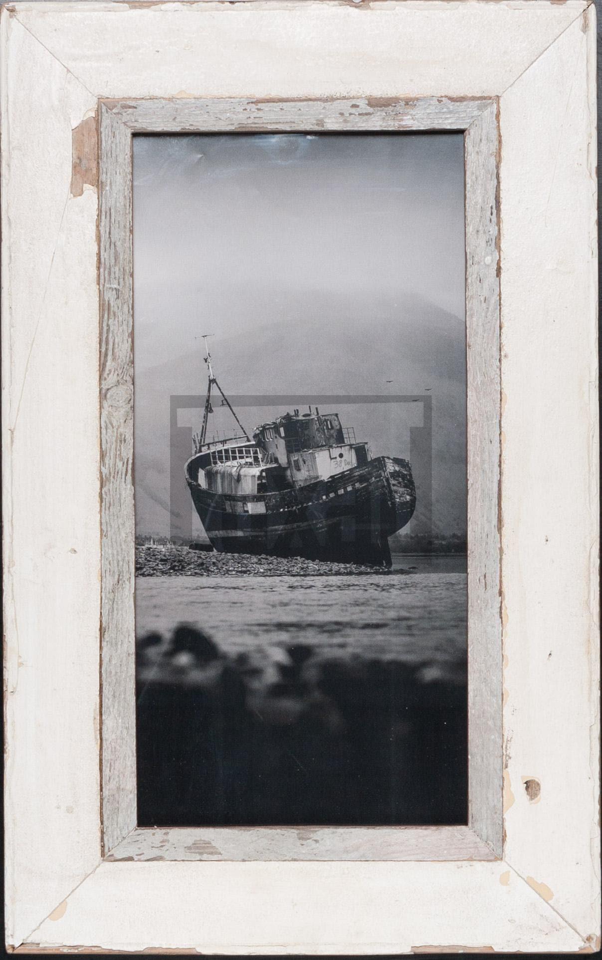 Altholz-Panorama-Bilderrahmen für Fotos ca. 21 x 42 cm