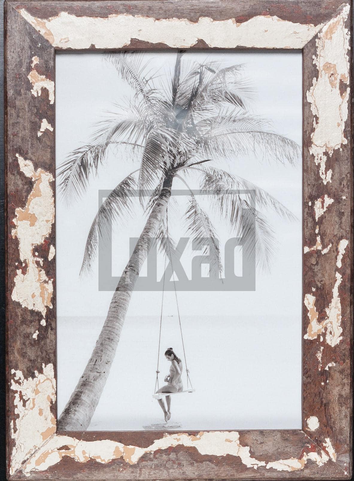 Wechselrahmen aus Altholz für die Bildgröße 25 x 38 cm