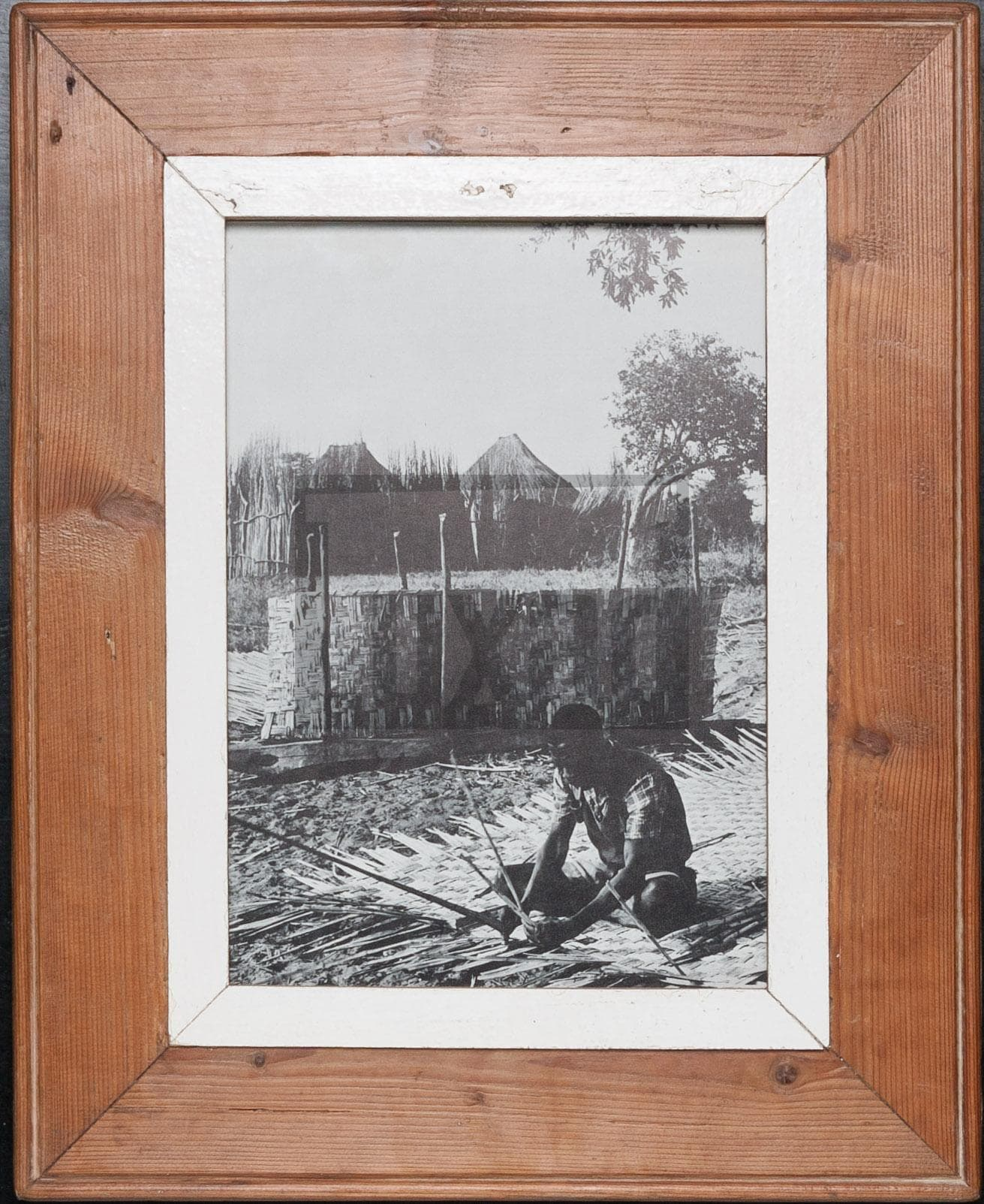 Vintage-Bilderrahmen aus altem Holz für Fotos DIN A4