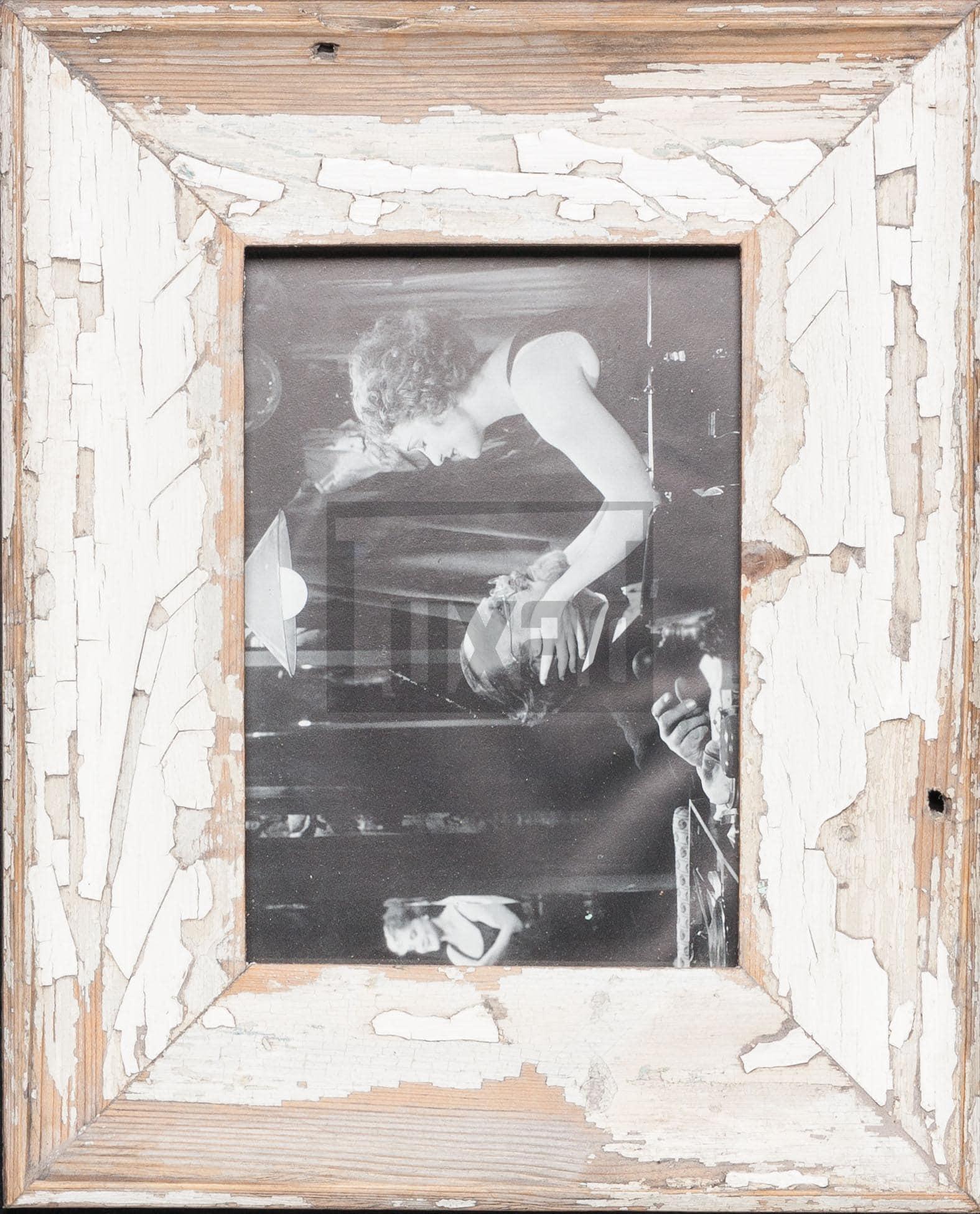 Vintage-Fotorahmen aus recyceltem Holz für Fotos DIN A5