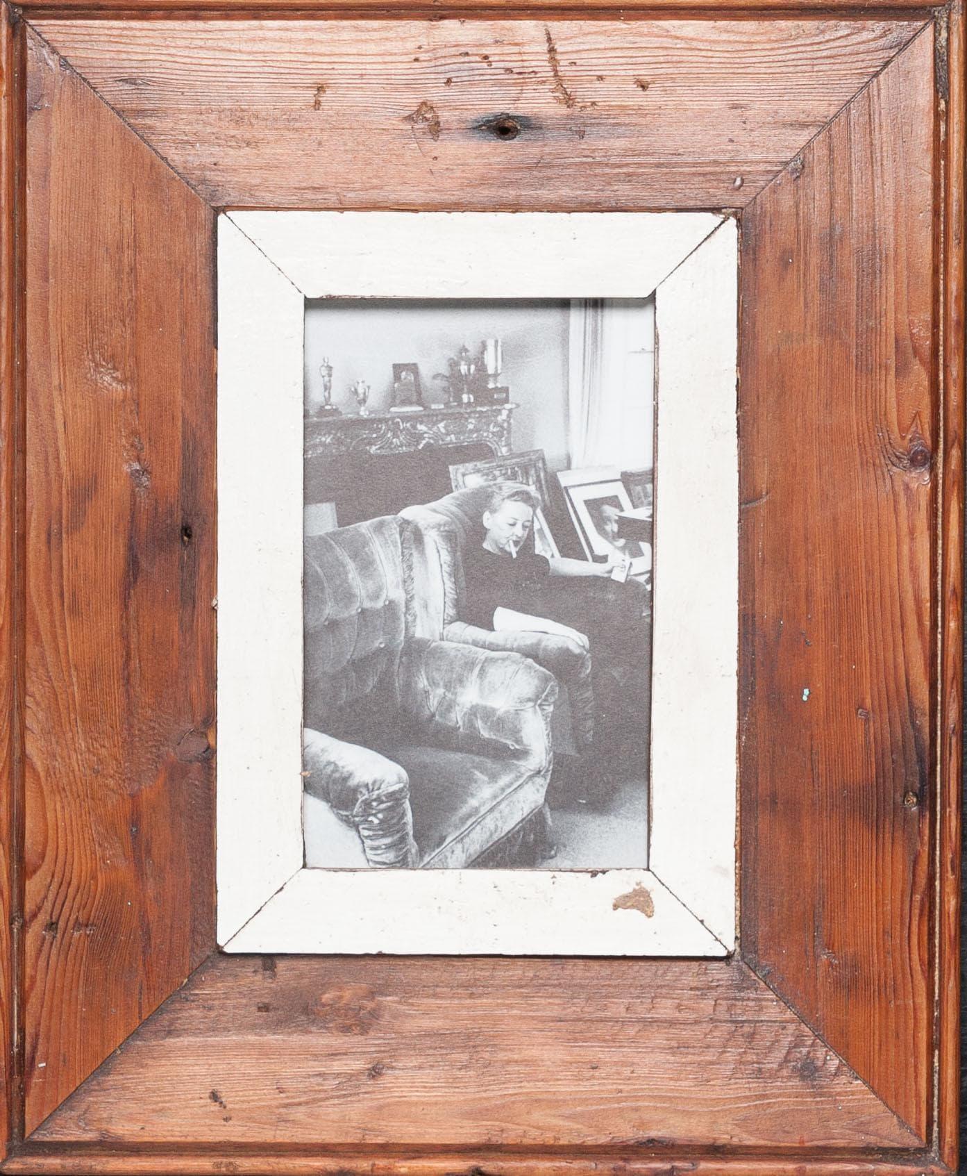 Bilderrahmen aus Recyclingholz für Fotos DIN A6