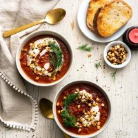 Roasted Red Cabbage Soup