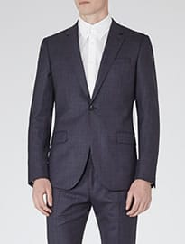 Reiss Rollins Wool Suit Navy