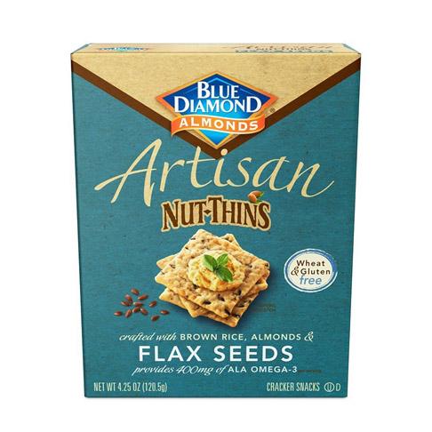 2. Blue Diamond Almonds 4.25 Ounce Gói 12 Hạt lanh Cracker Crisps