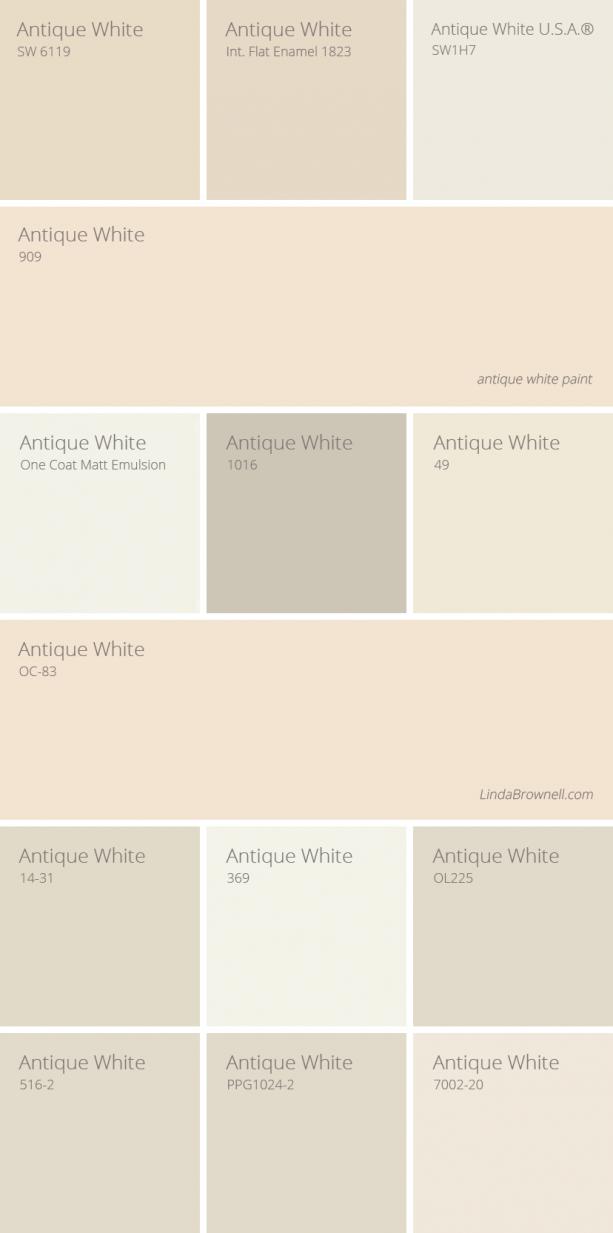 Antique White Paint Color