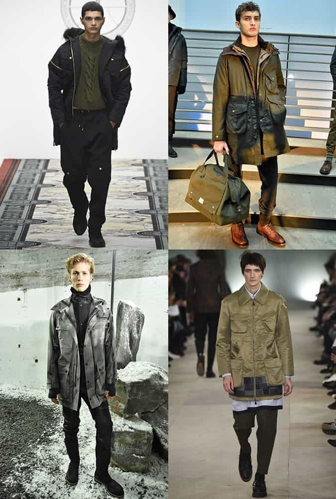 Men's Utilitarian Influences on The AW16 London Collections Men Runways