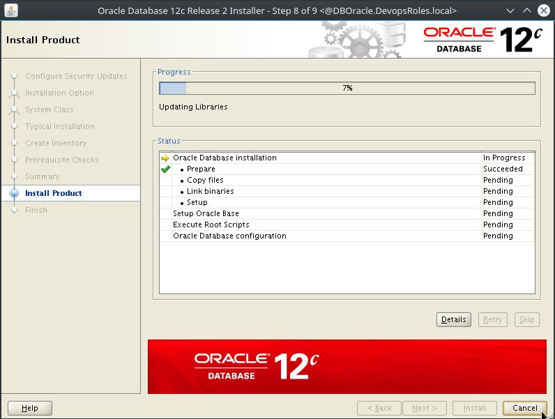Install Oracle Database 12c on Centos 7 7