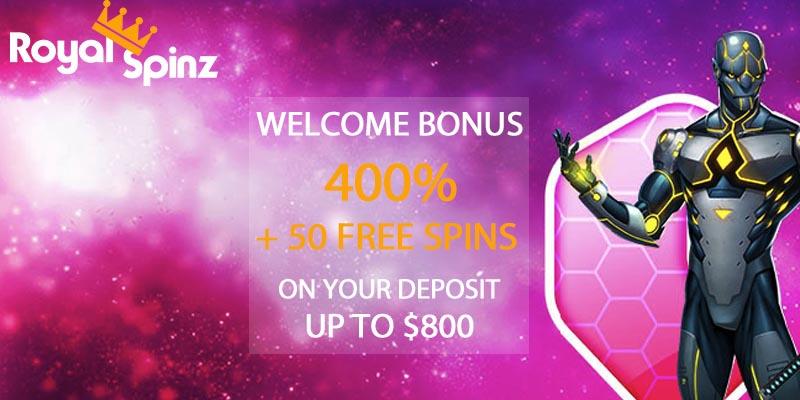 RoyalSpinz welcome bonus