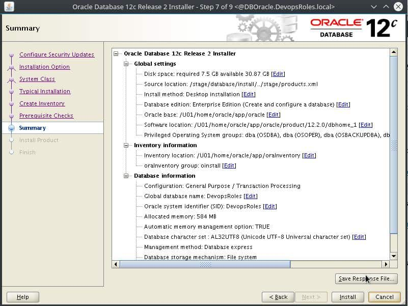 Install Oracle Database 12c on Centos 7 6