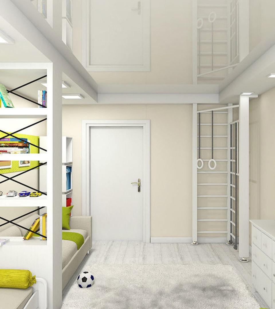 Натяжной потолок в детской 16 м2 4