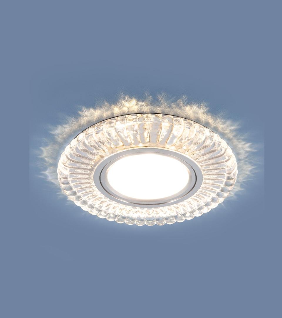 Встраиваемый точечный светильник с LED подсветкой 4