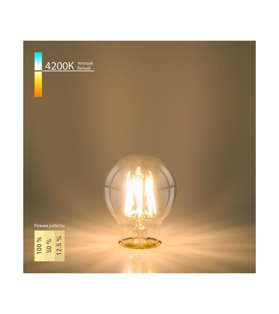 Филаментная светодиодная лампа A60 A60 9W 4200K E27 2