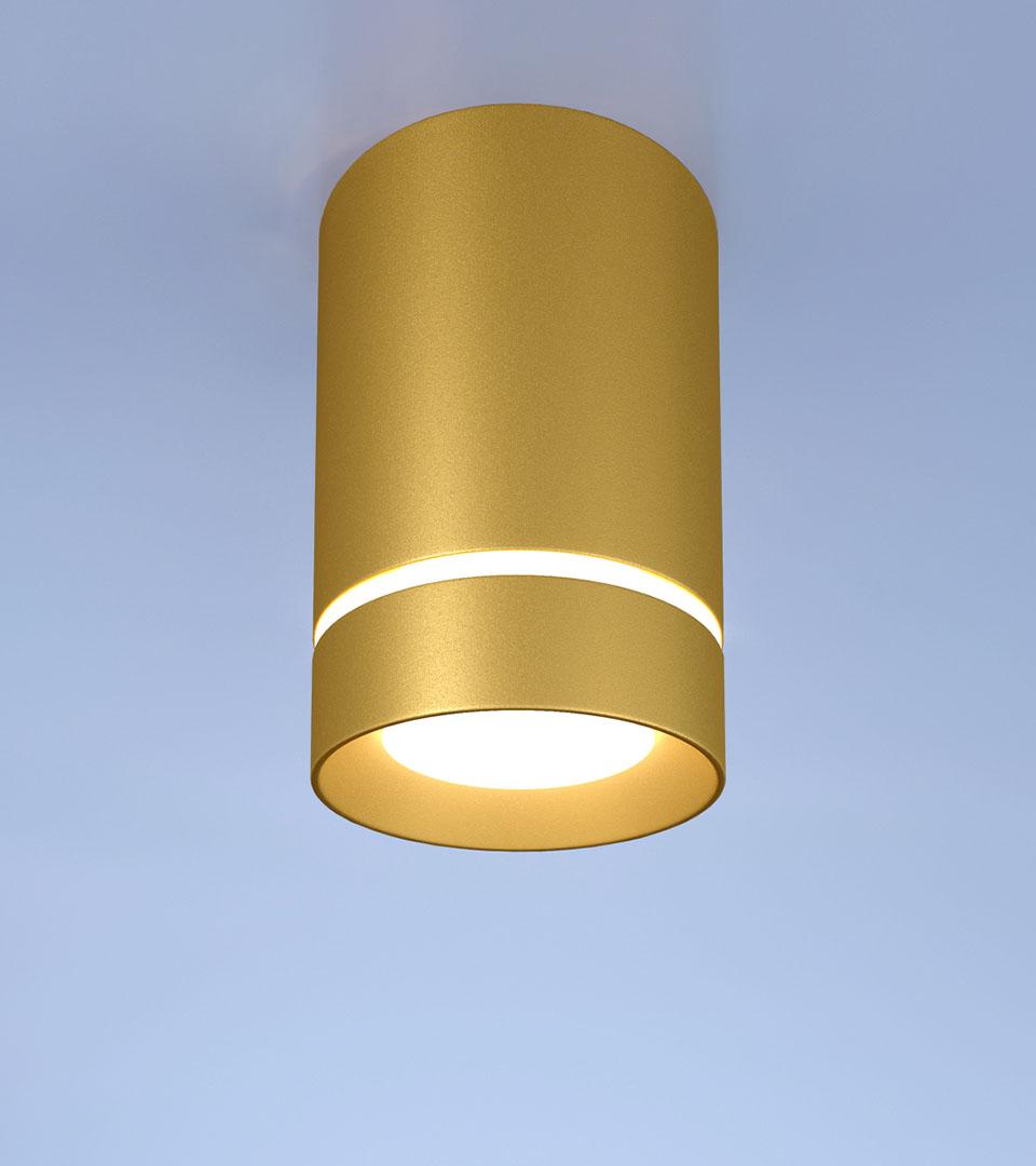 Потолочный светодиодный светильник DLR021 9W 3