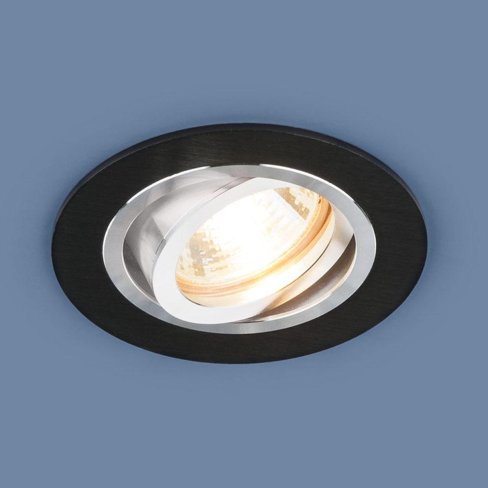 Алюминиевый точечный светильник 1061/1 MR16 BK черный 1