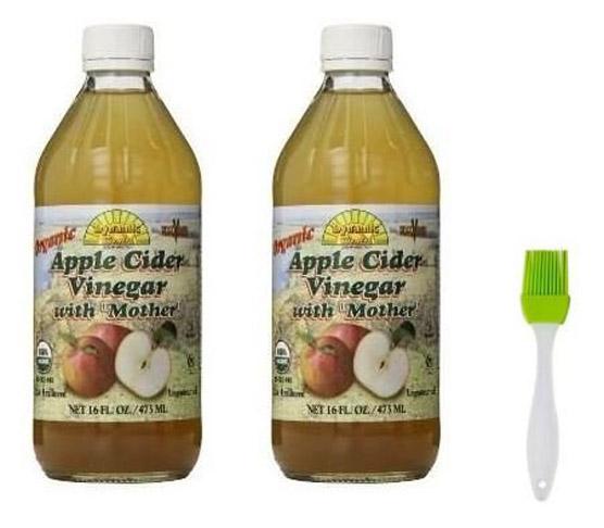 5. Dấm táo hữu cơ Dynamic Health 16 oz with Mother (2 gói)