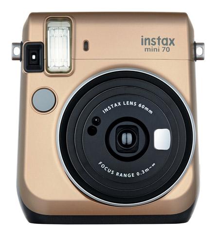 9. Máy ảnh phim lấy liền Fujifilm Instax Mini 70 Gold