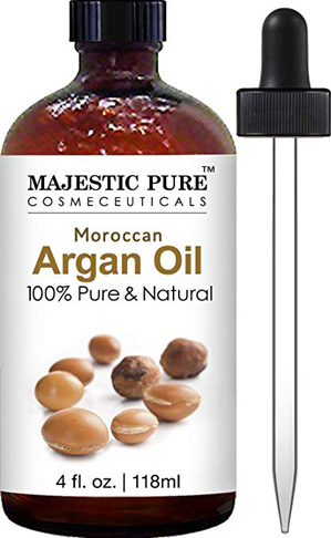 6. Dầu Argan nguyên chất Majestic Tinh khiết hữu cơ cho phụ nữ và nam giới