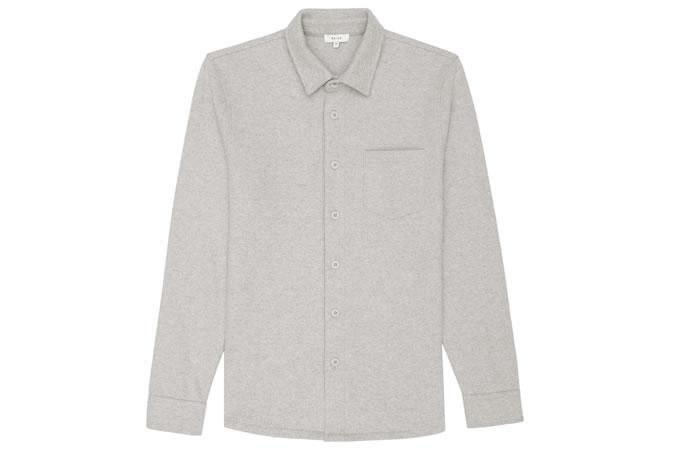 Reiss Newton Wool And Cotton Overshirt