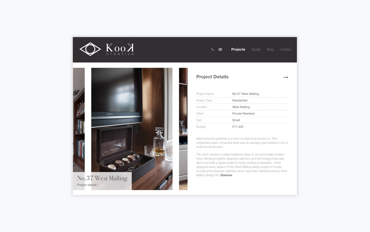 Kook Creative Project Detail Page