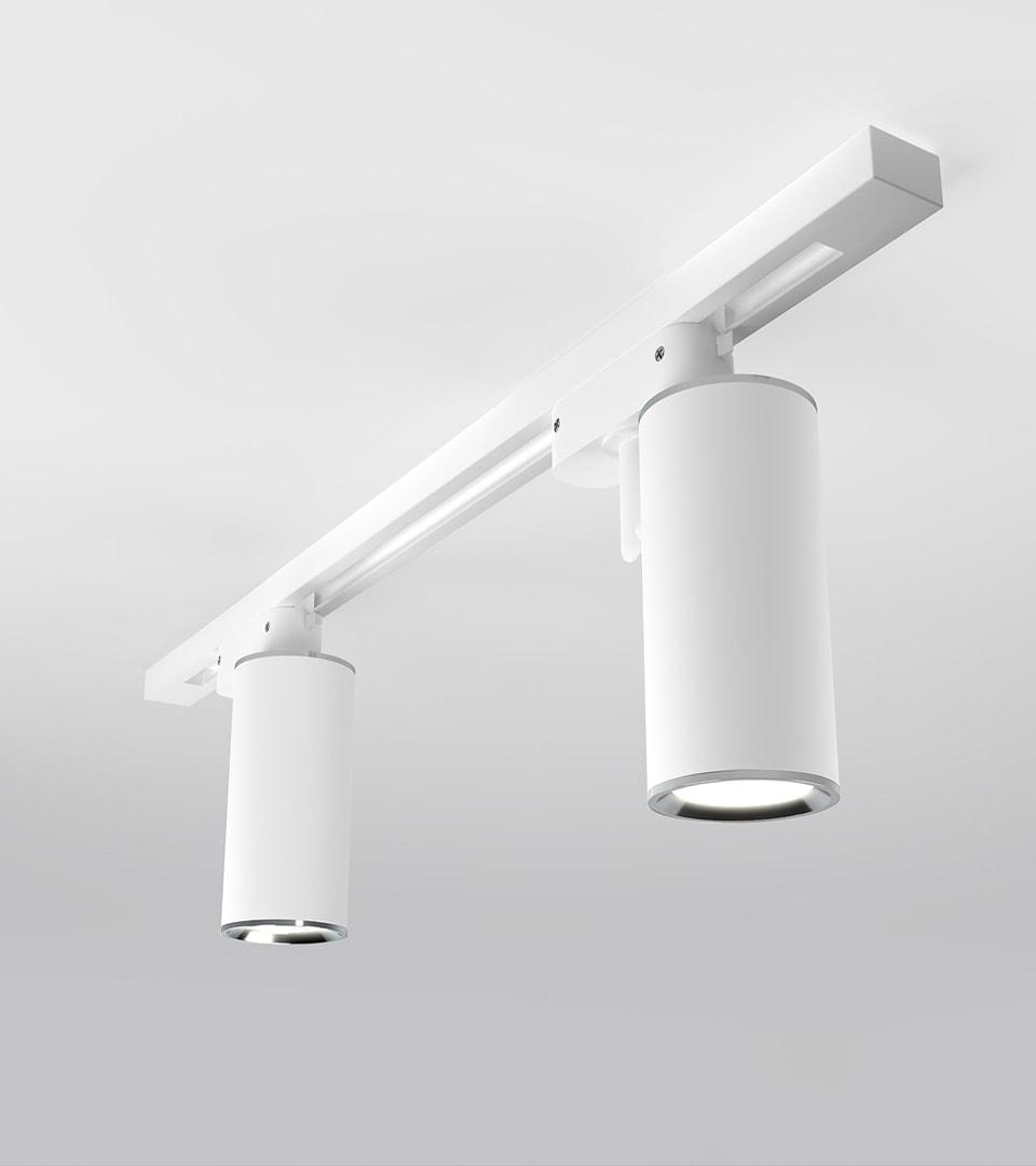 Трековый светильник для однофазного шинопровода Rutero GU10 Белый 2