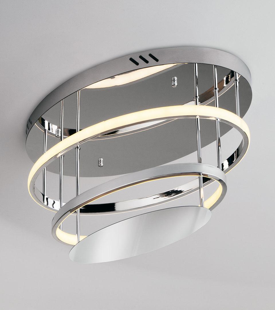 Потолочный светодиодный светильник с пультом управления 90160/2 хром 1