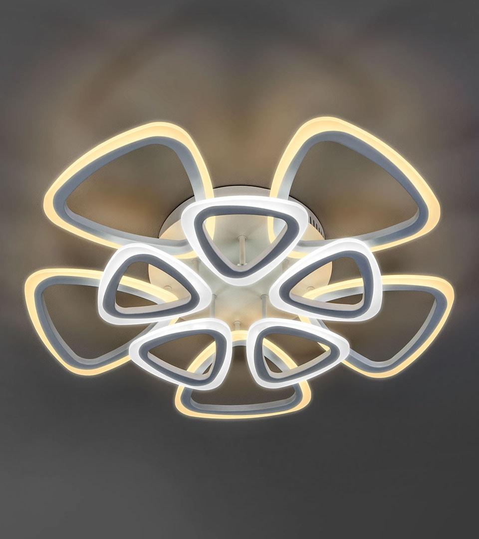 Потолочный светодиодный светильник с пультом управления 90216/10 белый 2