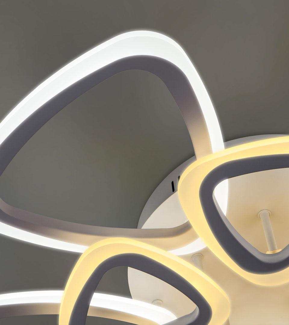 Потолочный светодиодный светильник с пультом управления 90216/10 белый 4