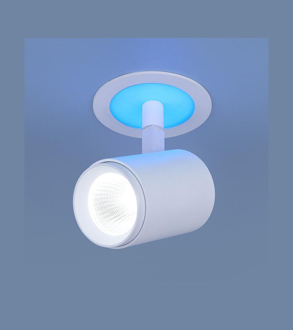 Акцентный светодиодный светильник DSR002 9W 6500K Blue 1