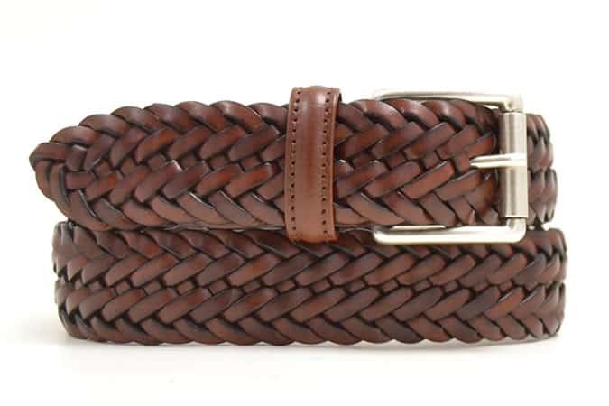 Anderson's Tan Plaited Belt