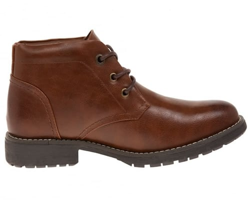 TS HERITAGE Mens Brown Padded Collar Chukka Boot