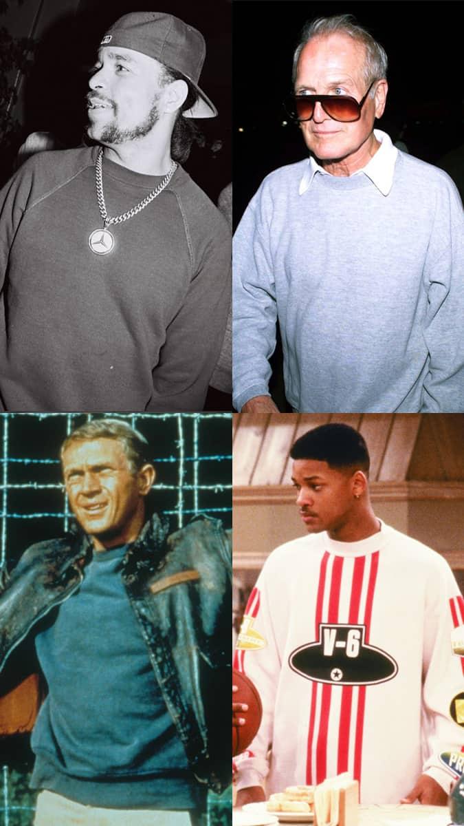 Celebrity sweatshirt lookbook