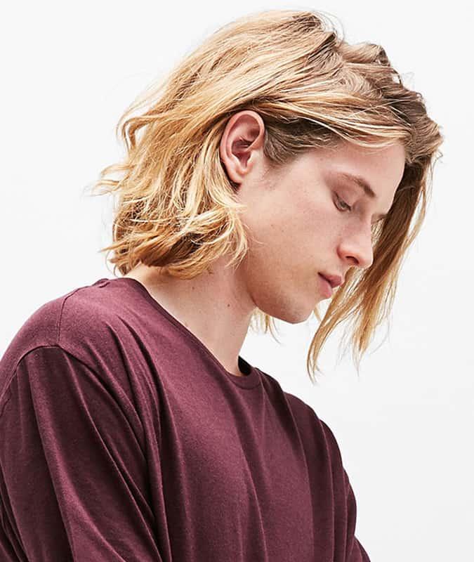 Long grunge hair