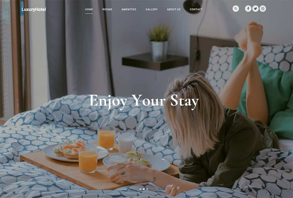Luxury Hotel - Free HTML template