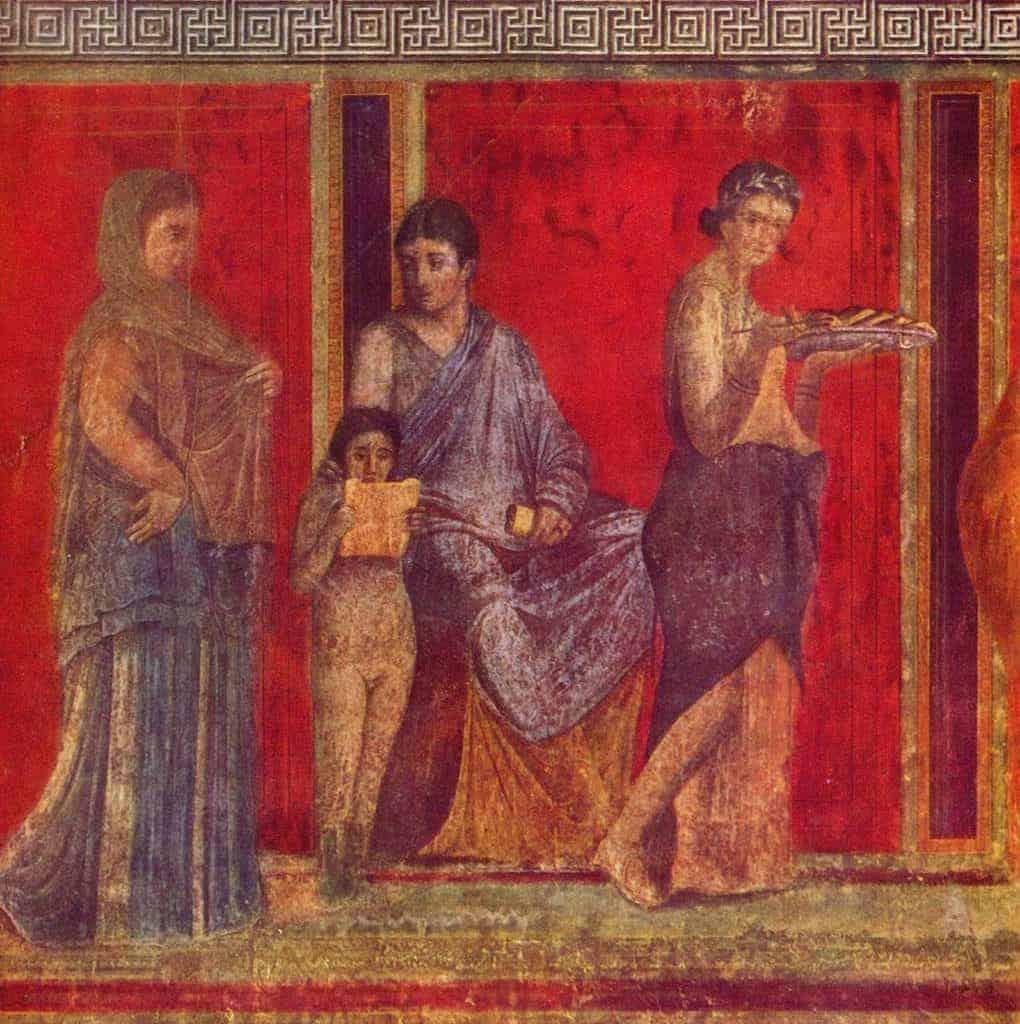 Fresco in the Villa of the Mysteries in Pompeii
