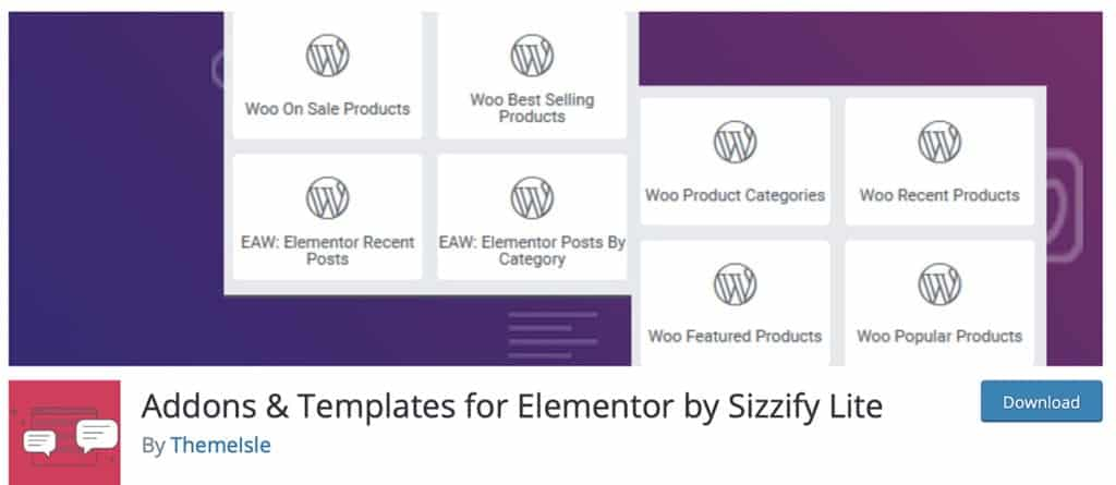 Addons & Templates for Elementor by Sizzify Lite