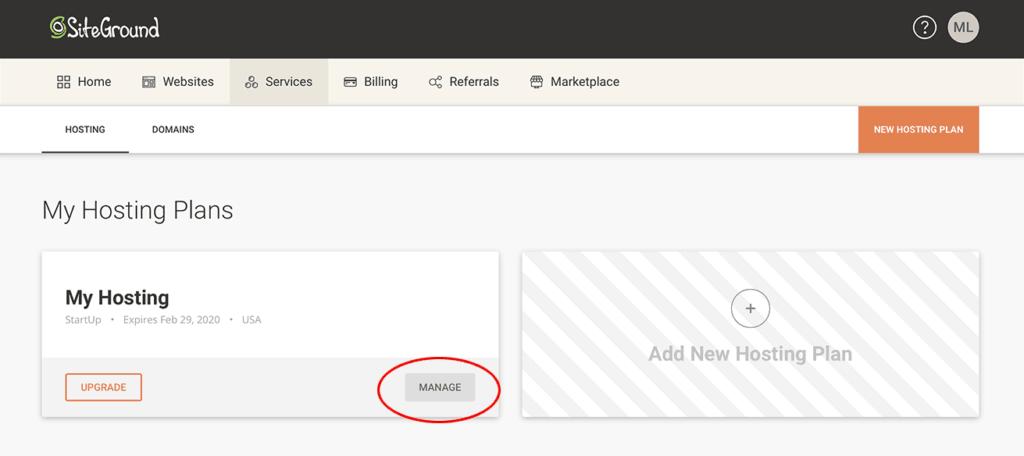 cancel siteground hosting
